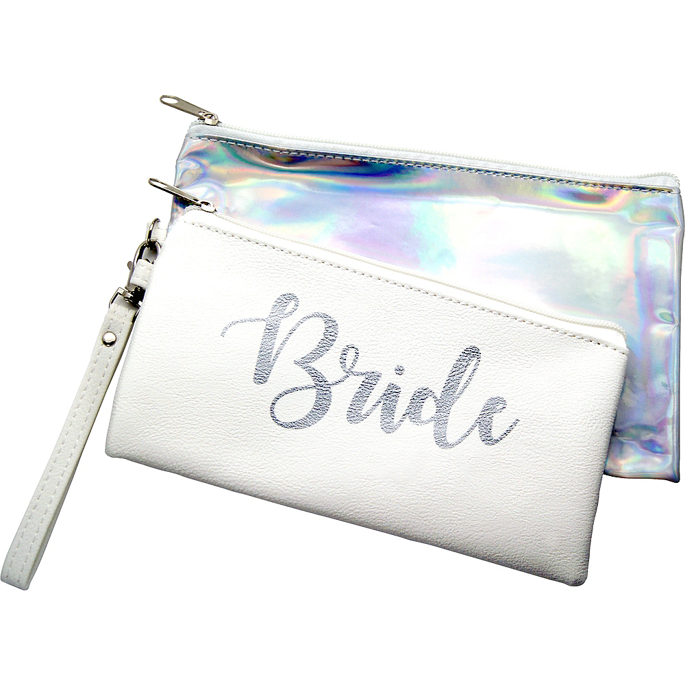 Iridescent & White Bride Purse Set 2pc Image #1