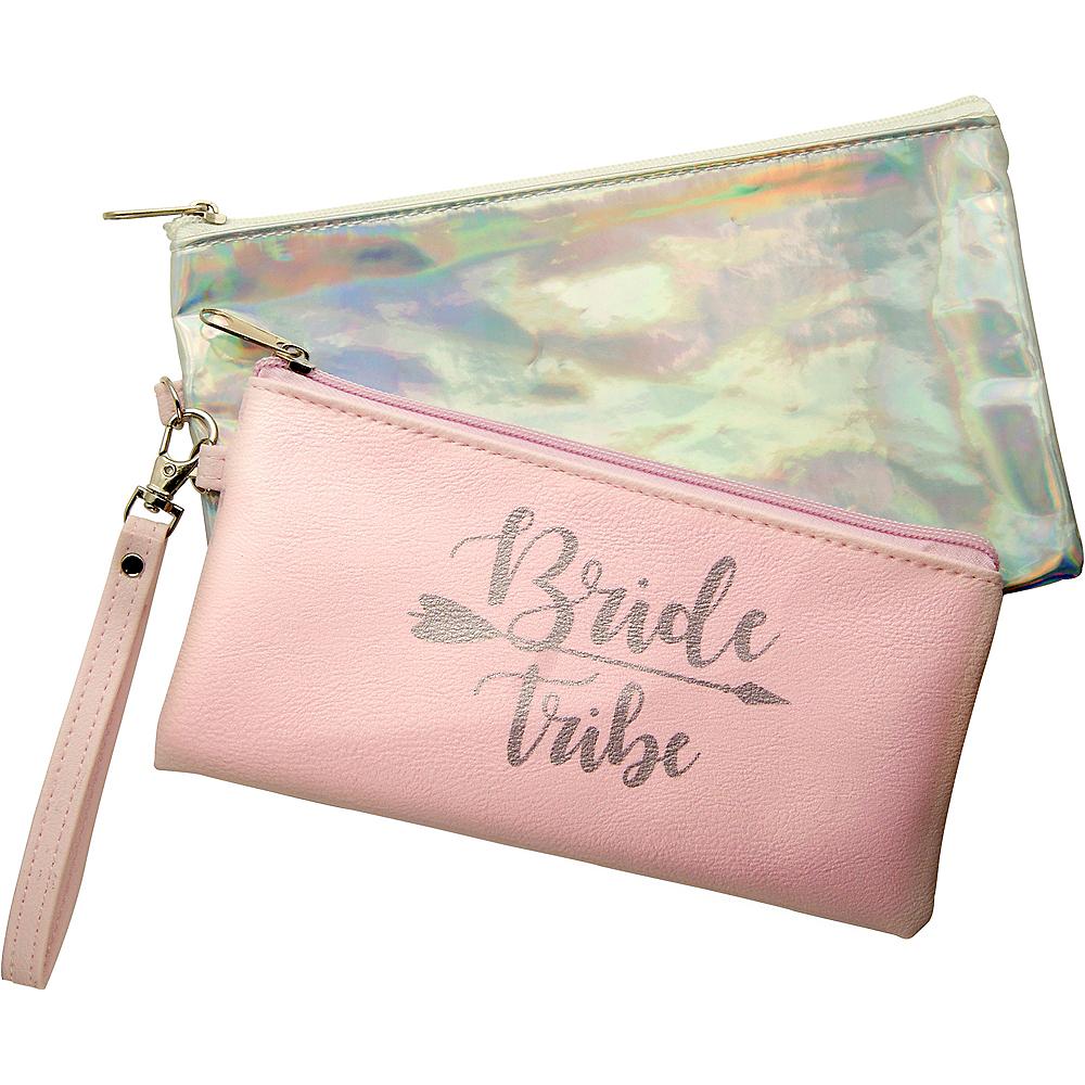 Iridescent & Pink Bride Tribe Purse Set 2pc Image #1