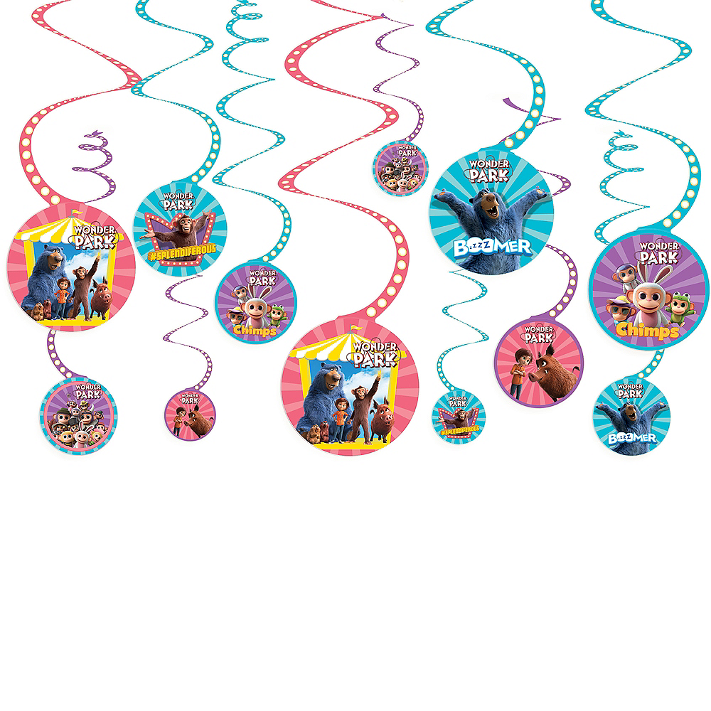 Nav Item for Wonder Park Swirl Decorations 12ct Image #1
