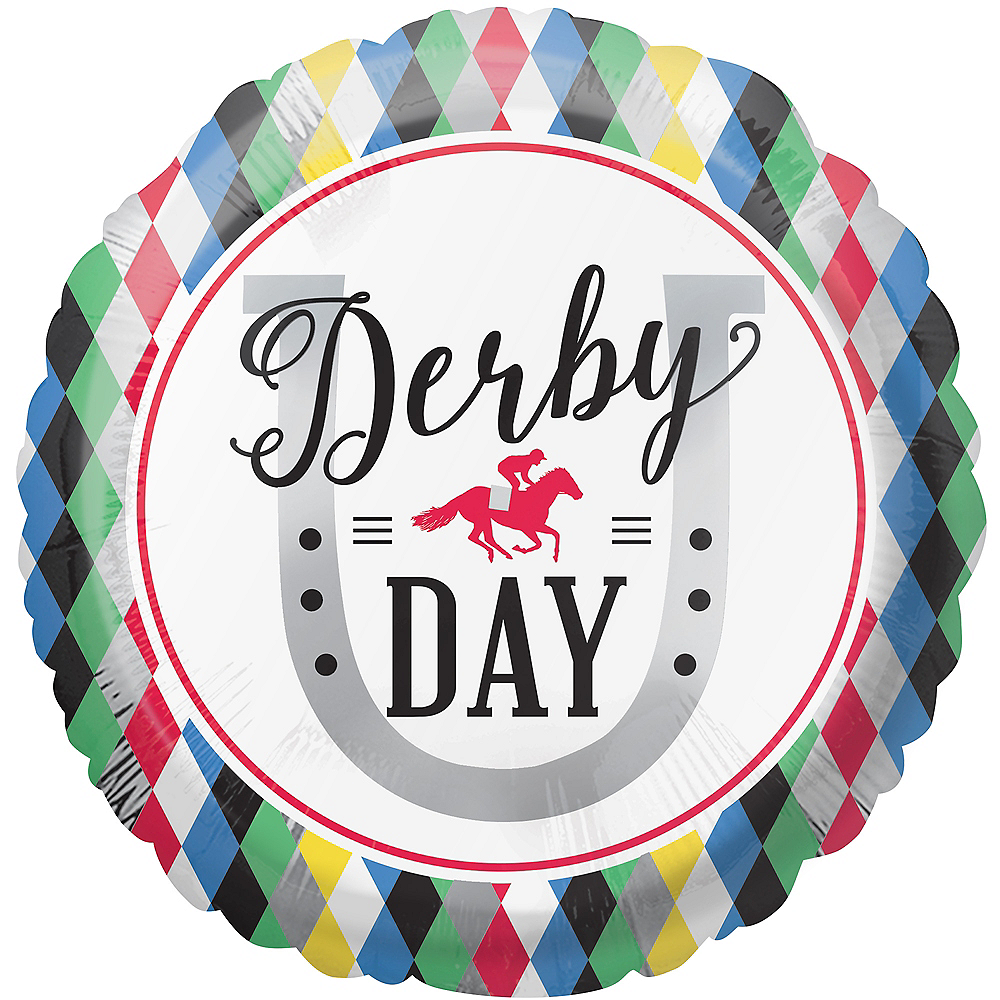 Harlequin Derby Day Balloon, 17in Image #1