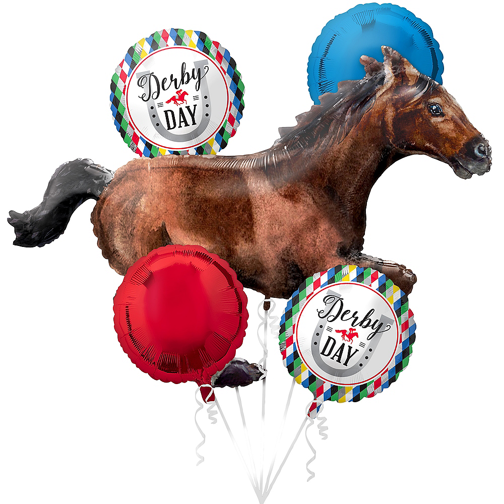 Derby Day Balloon Bouquet 5pc Image #1