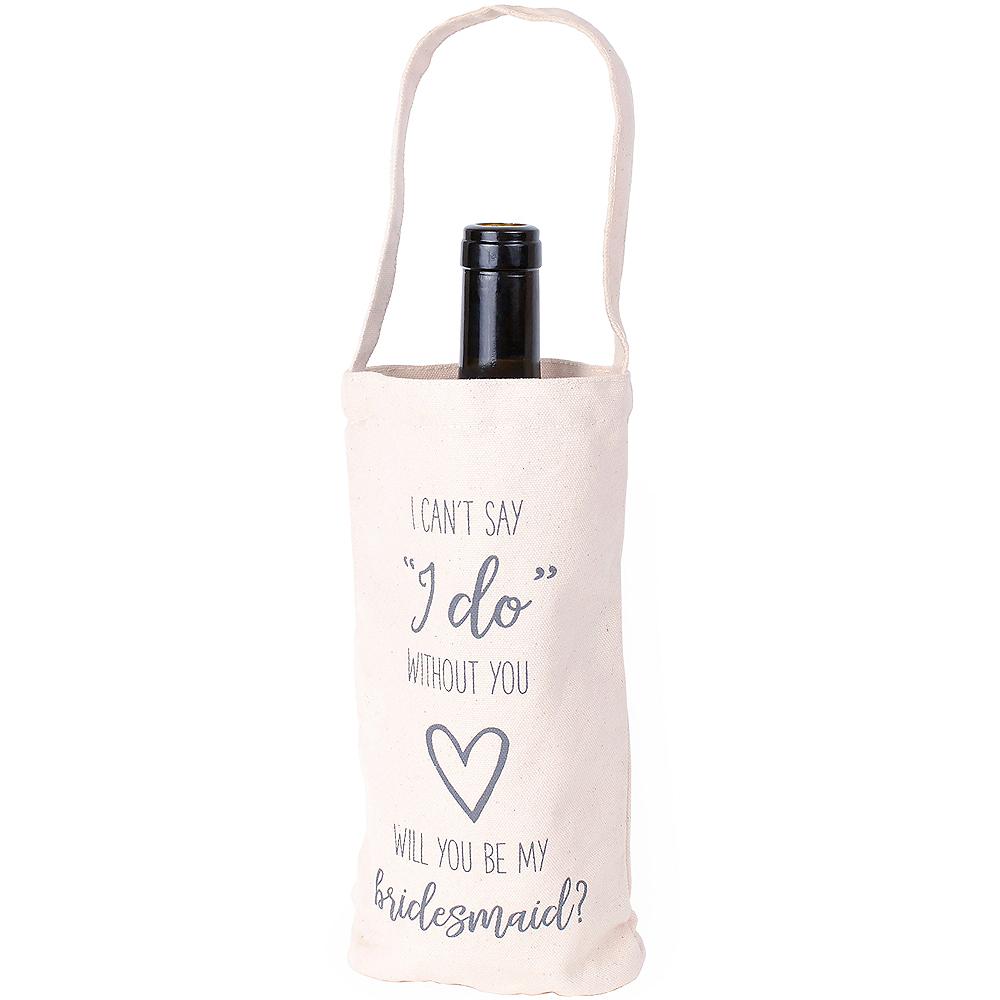 Canvas Bridesmaid Wine Bag Image #1