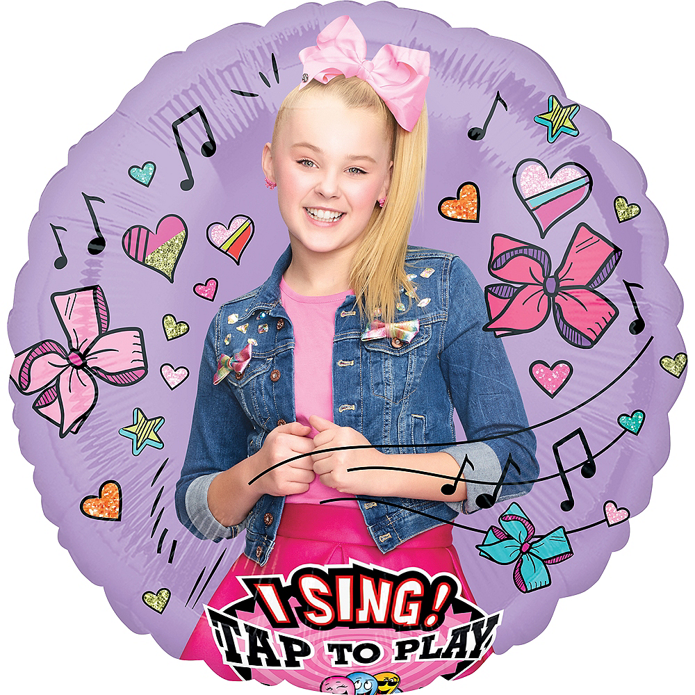 Nav Item for Giant Singing JoJo Siwa Balloon, 28in Image #1