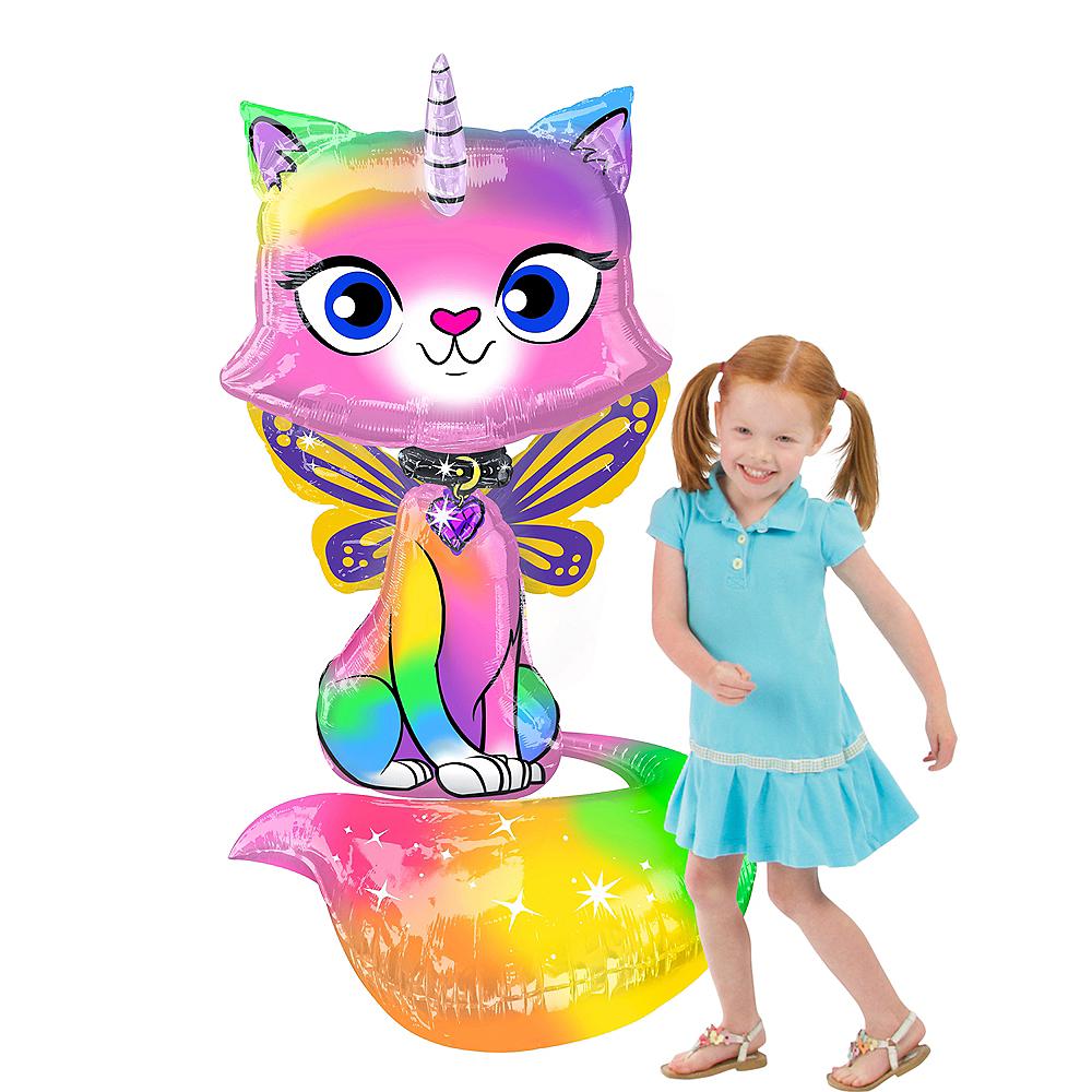 Giant Felicity Balloon - Rainbow Butterfly Unicorn Kitty Image #1