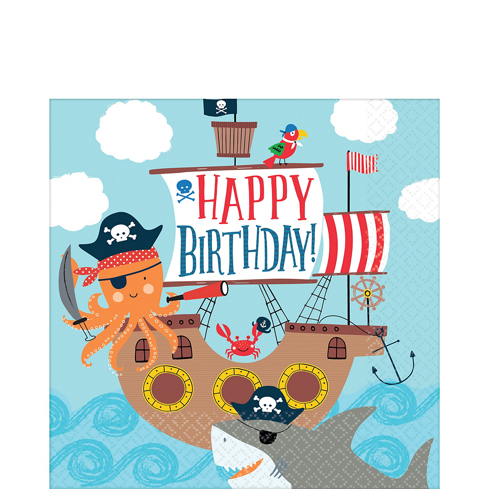 Pirate Shark Lunch Napkins 36ct Image #1