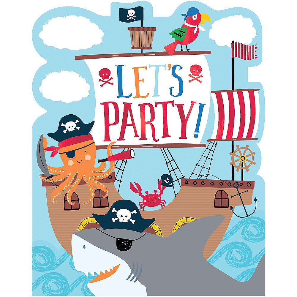 Pirate Shark Invitations 8ct Image #1