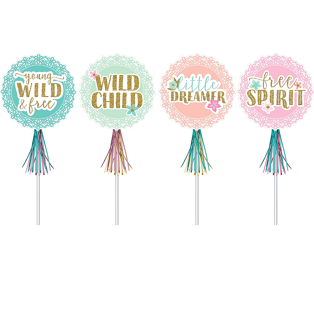 Boho Girl Glitter Wands 8ct Image #1