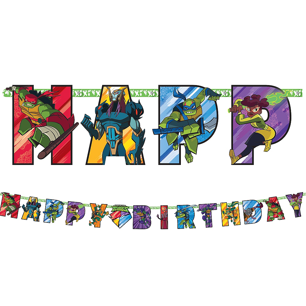 Rise of the Teenage Mutant Ninja Turtles Birthday Banner Kit Image #1