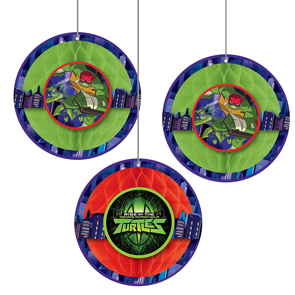 Rise of the Teenage Mutant Ninja Turtles Honeycomb Balls 3ct Image #1
