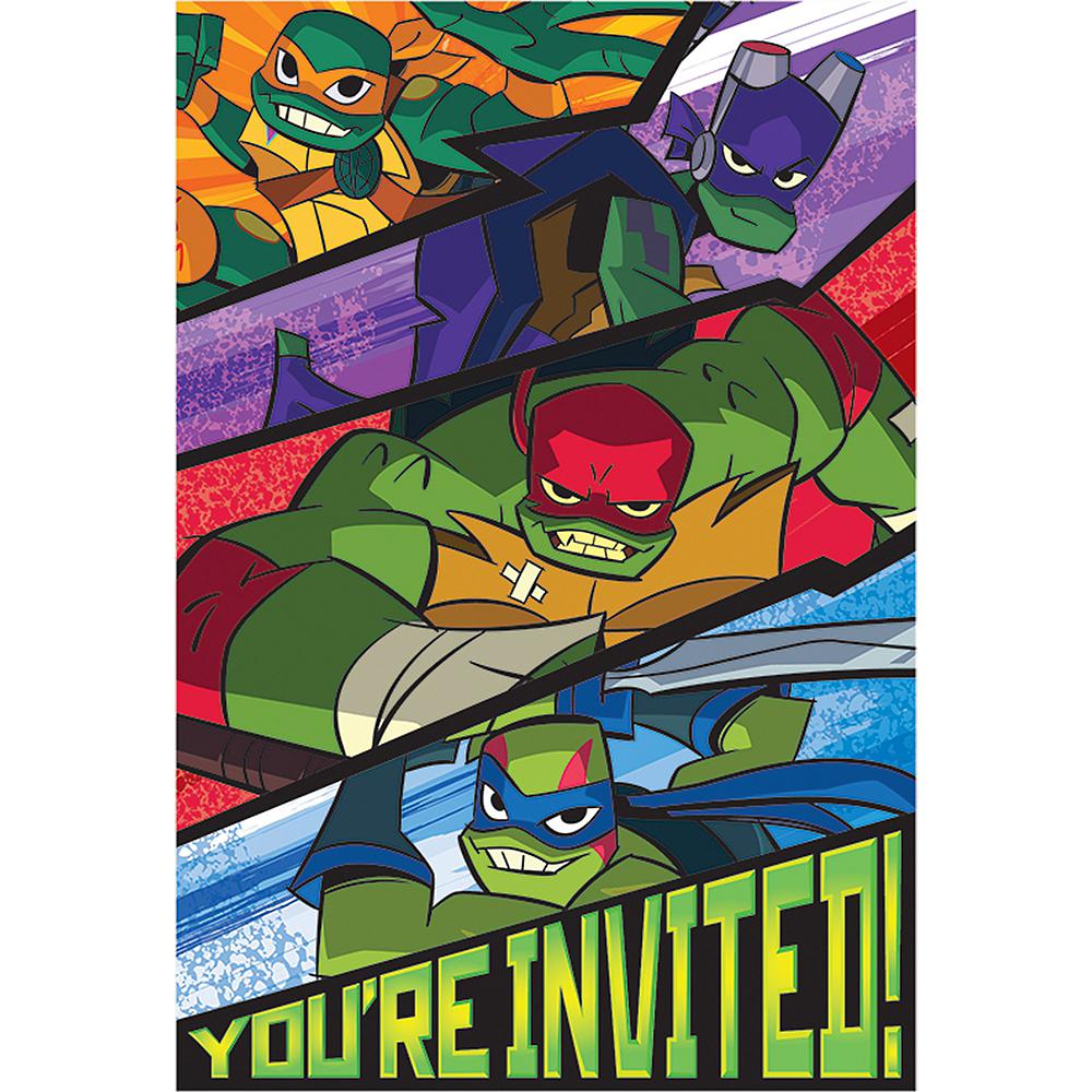 Rise of the Teenage Mutant Ninja Turtles Invitations 8ct Image #1