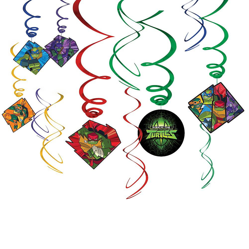 Rise of the Teenage Mutant Ninja Turtles Swirl Decorations 12ct Image #1