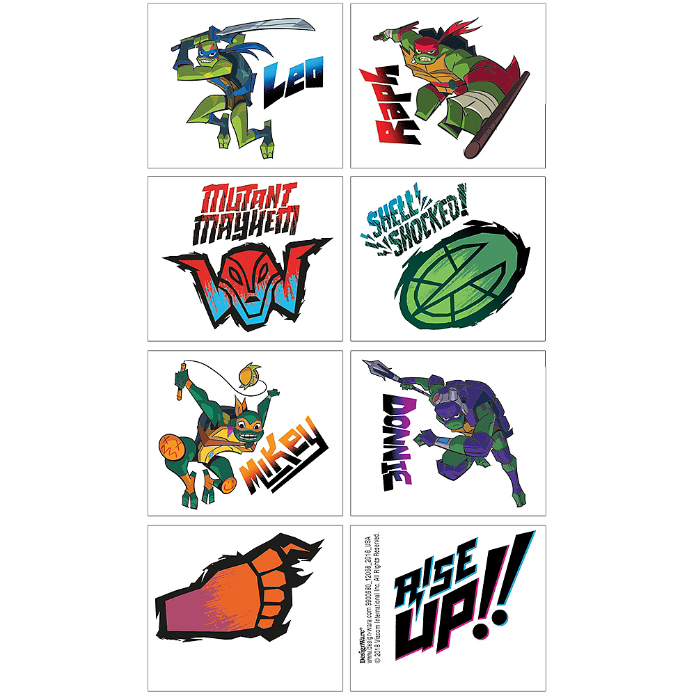 Rise of the Teenage Mutant Ninja Turtles Tattoos 1 Sheet Image #1