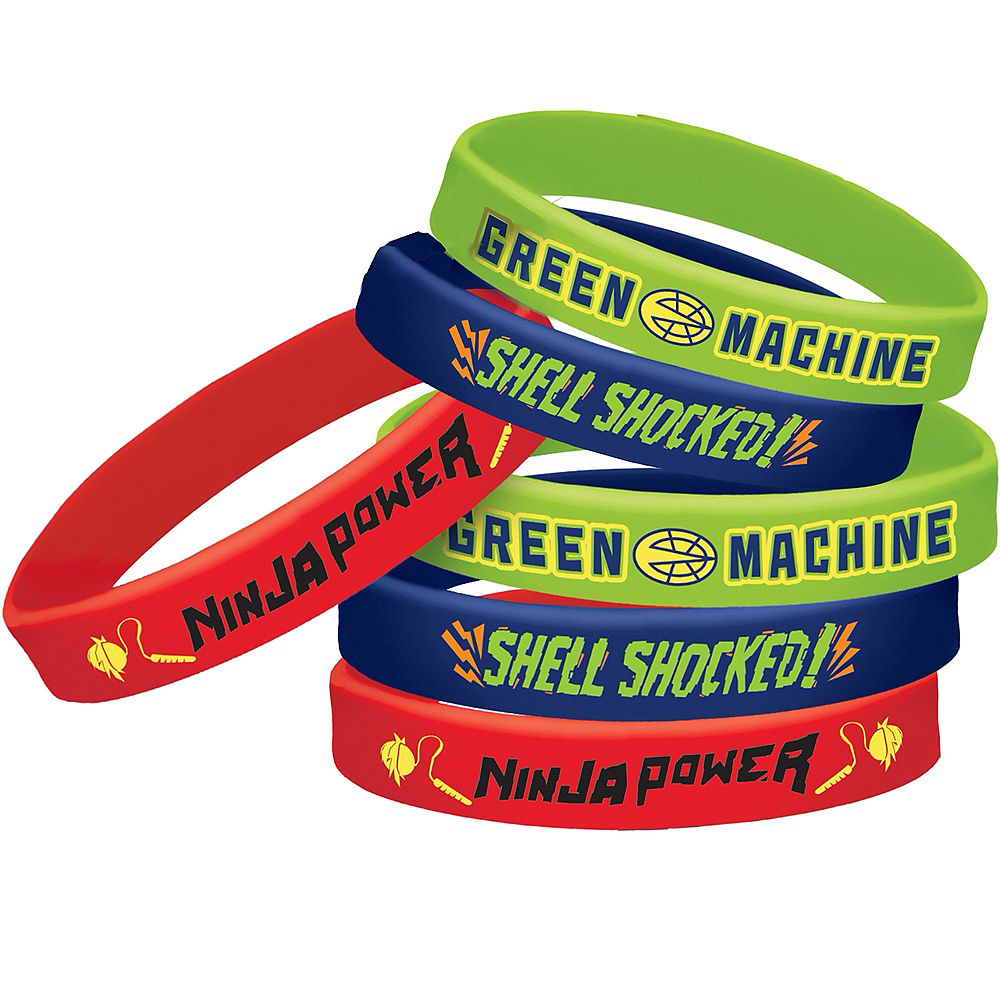 Rise of the Teenage Mutant Ninja Turtles Wristbands 6ct Image #1