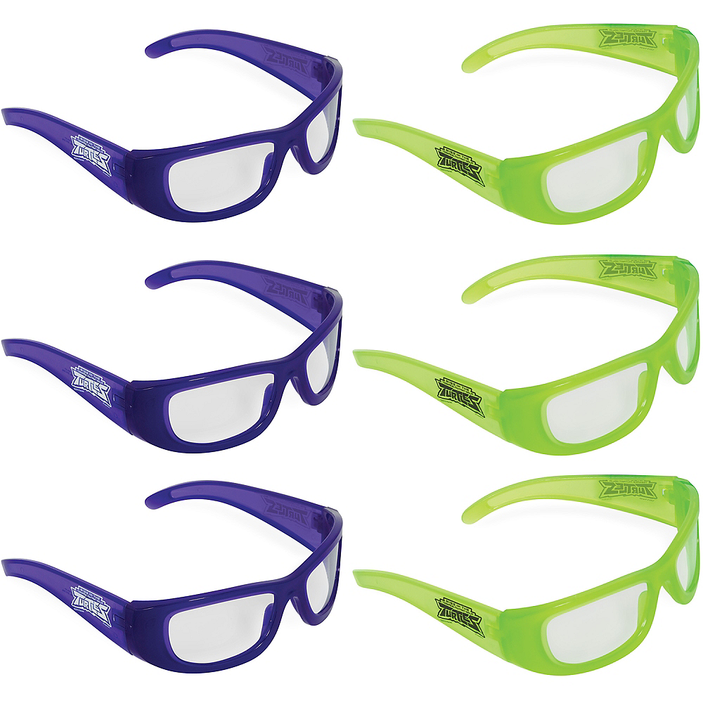 Rise of the Teenage Mutant Ninja Turtles Glasses 6ct Image #1