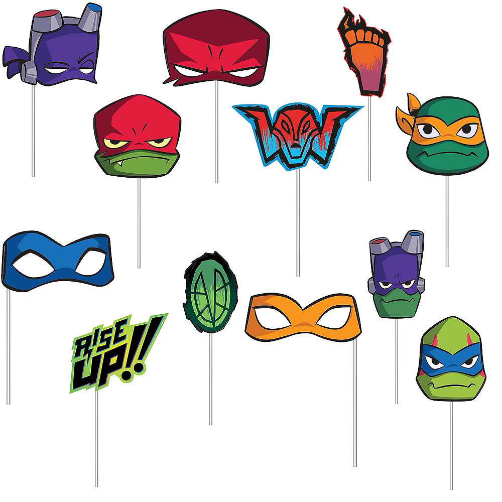 Rise of the Teenage Mutant Ninja Turtles Scene Setter with Photo Booth Props Image #2