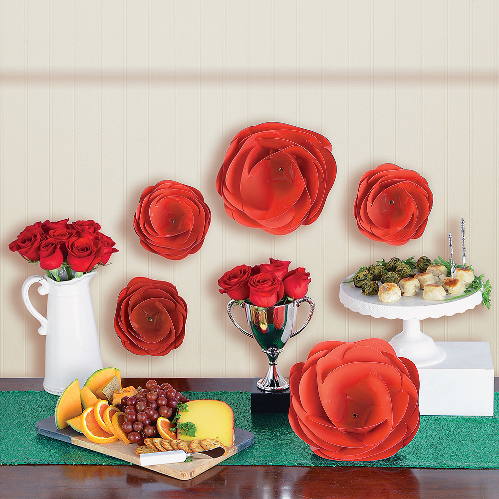 Nav Item for Red Paper Flower Decorations, 5pc Image #1