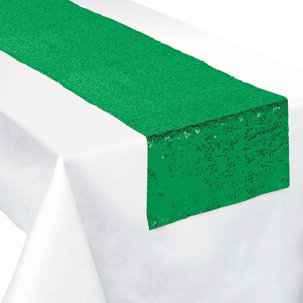 Green Sequin Table Runner Image #1