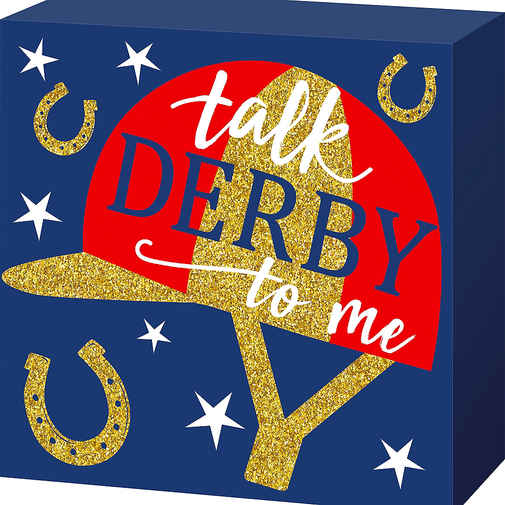 Talk Derby To Me Block Sign Image #1