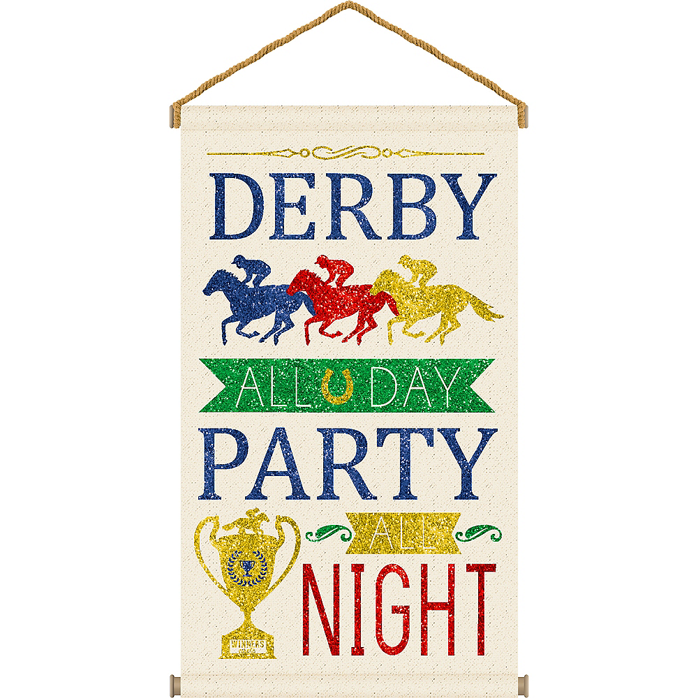 Glitter Derby Day Canvas Sign Image #1
