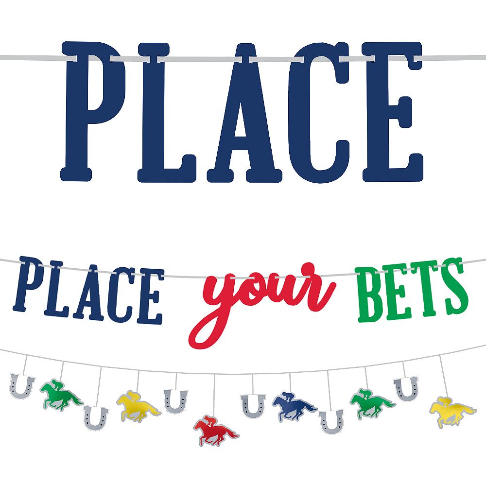 Place Your Bets Kentucky Derby Banners, 2ct Image #1