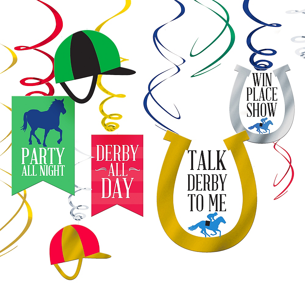 Derby Day Swirl Decorations 12ct Image #1
