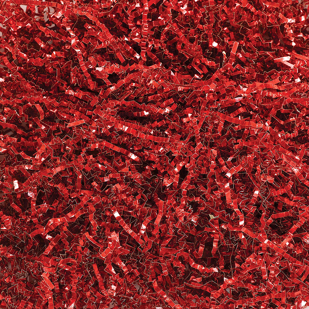 Metallic Red Crinkle Paper Shreds Image #1