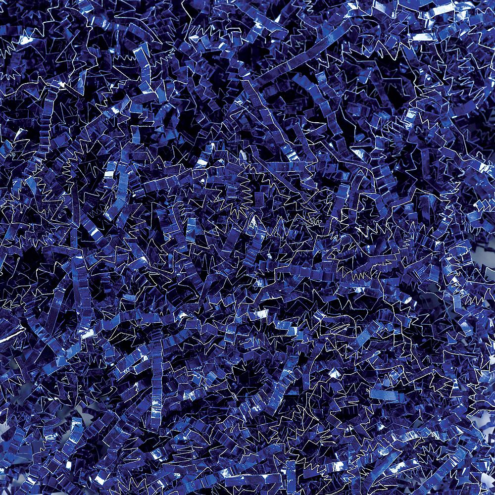 Metallic Blue Crinkle Paper Shreds Image #1