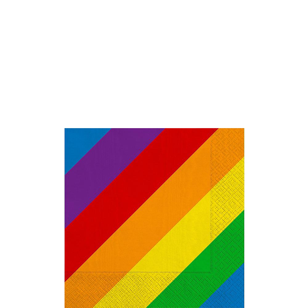 Rainbow Striped Beverage Napkins 16ct Image #1