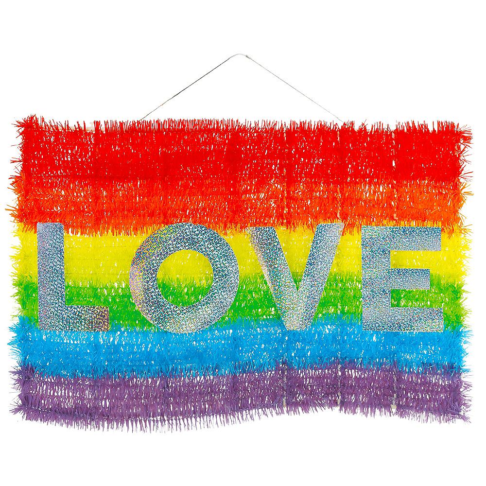 Rainbow Flag Love Tinsel Sign Image #1