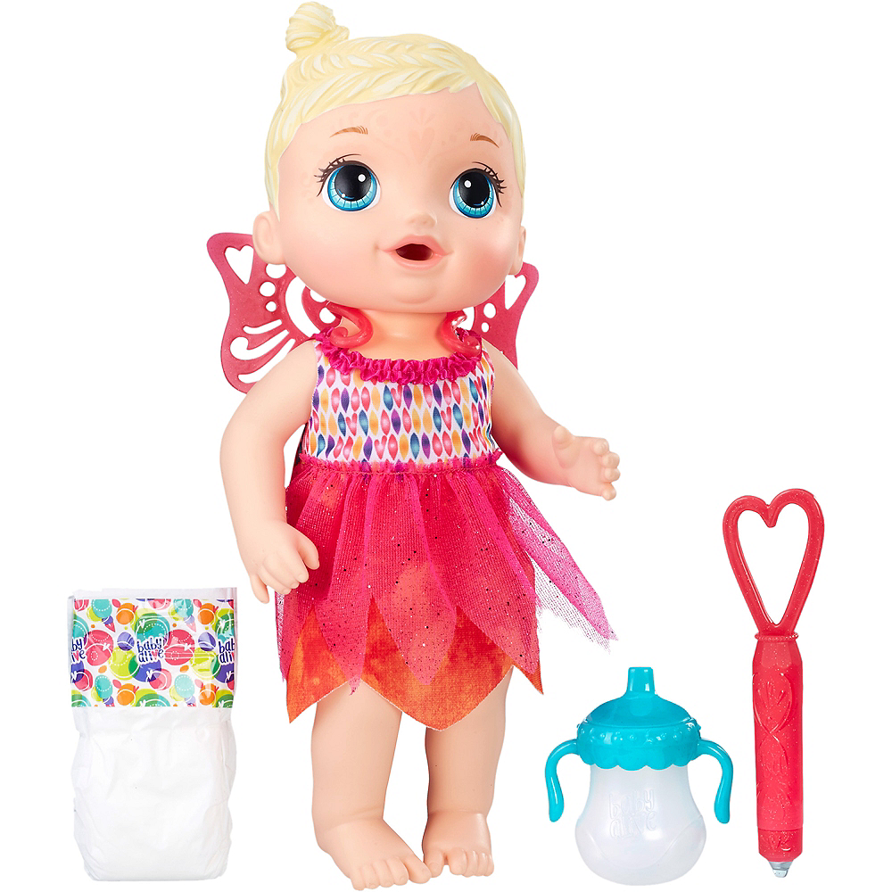 d2b0aa720d94 Blonde Baby Alive Face Paint Fairy Baby Doll