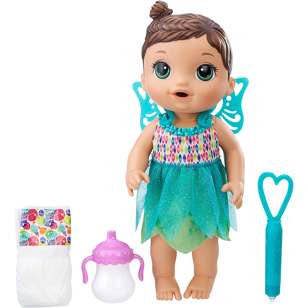 Brunette Baby Alive Face Paint Fairy Baby Doll Image #1