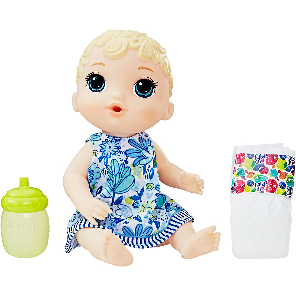 Nav Item for Blonde Baby Alive Lil' Sips Baby Doll Image #1