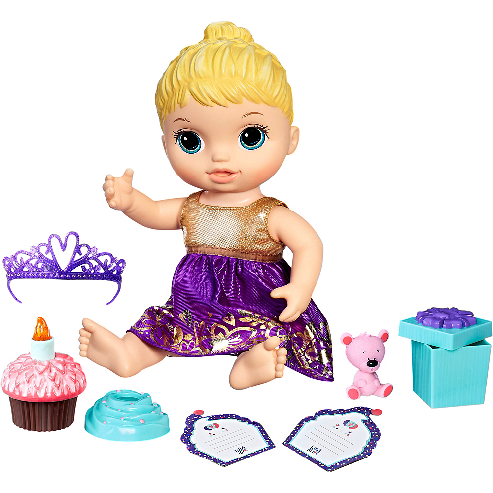 Blonde Baby Alive Cupcake Birthday Baby Doll Image #1