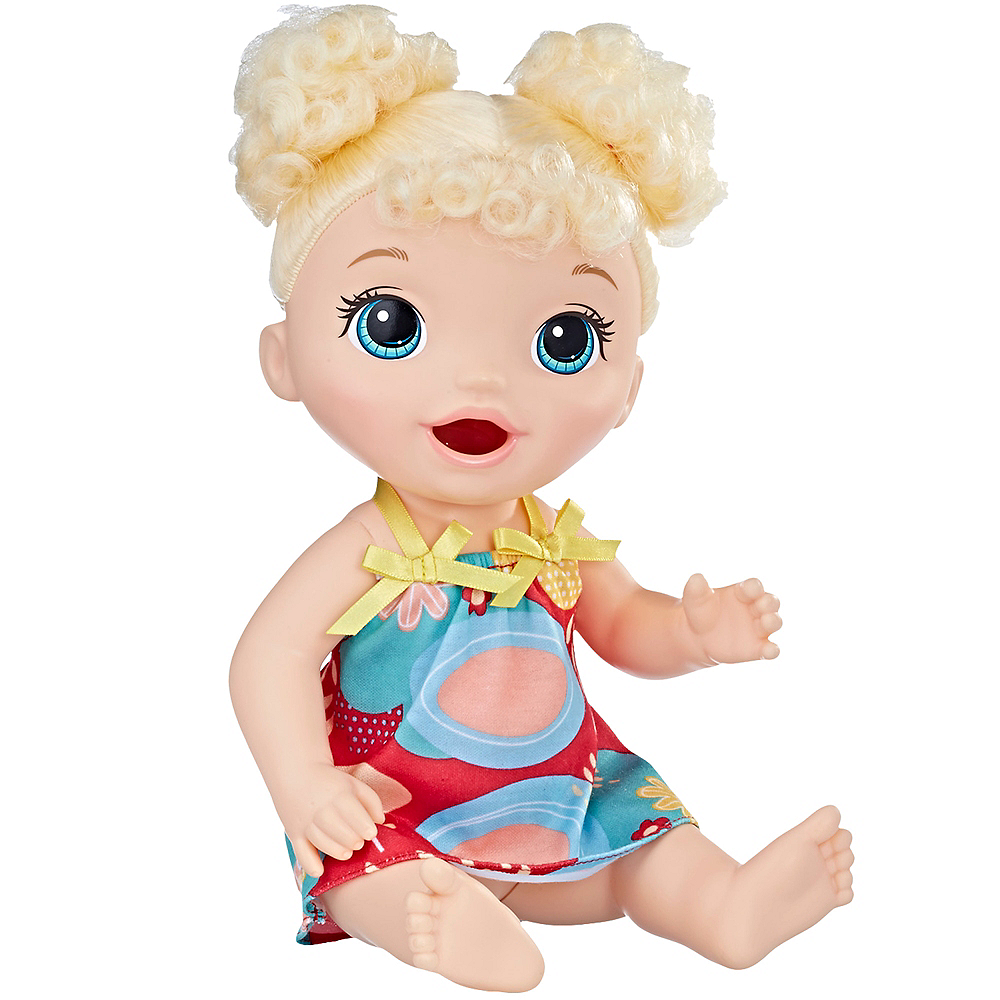 Curly Blonde Hair Baby Alive Snackin' Treats Baby Doll Image #1