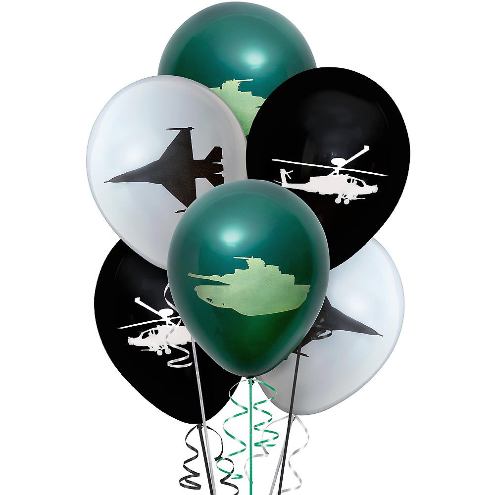 Apache & Jet Balloons 6ct Image #1