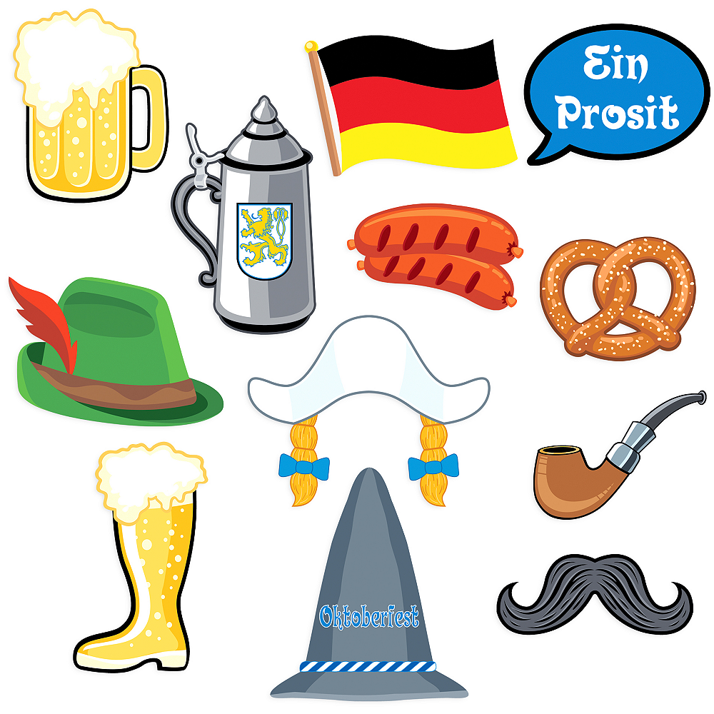Oktoberfest Photo Booth Props 12ct Image #1