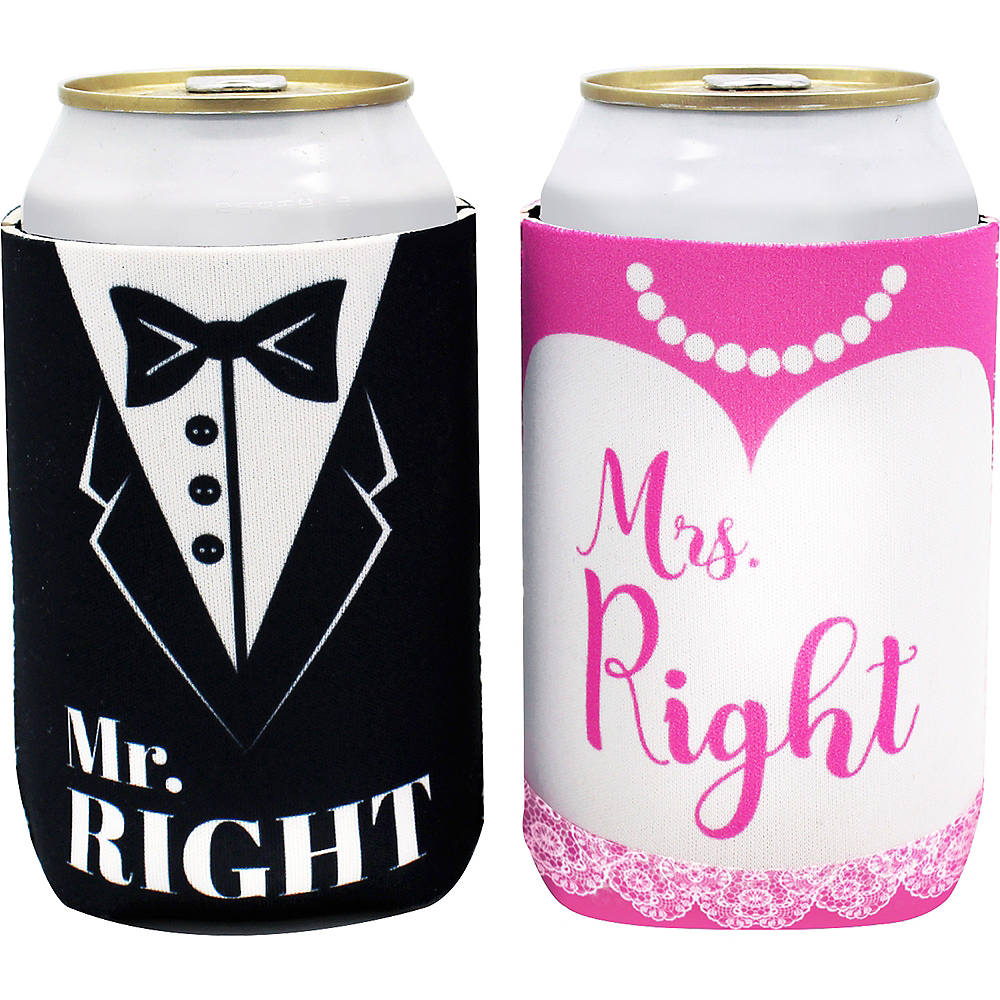 Bride & Groom Can Coozies 2ct Image #1
