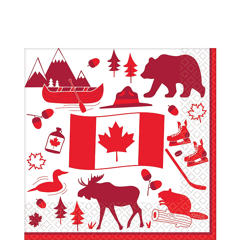 Canada Lunch Napkins 36ct Image #1