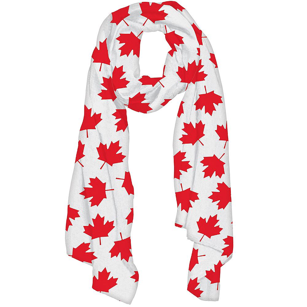 Canadian Maple Leaf Scarf Image #1