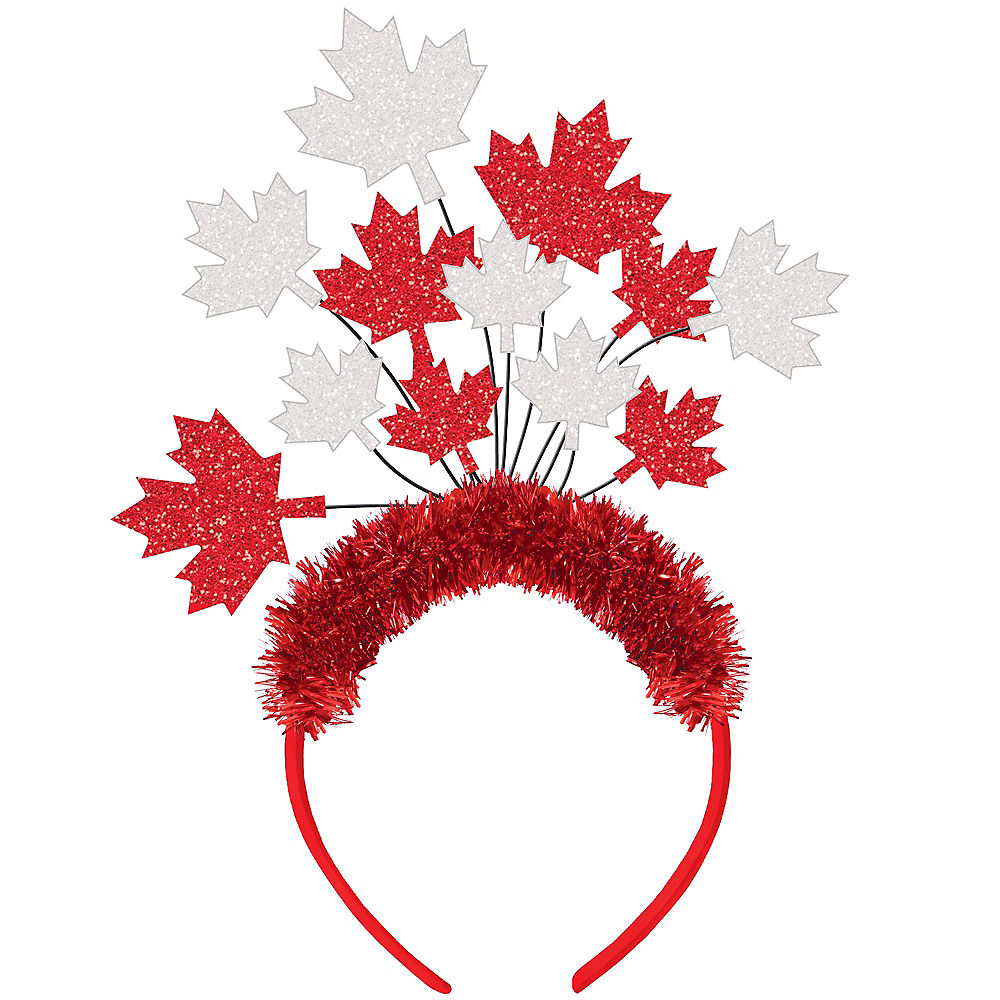 Glitter Canadian Maple Leaf Headband Image #1