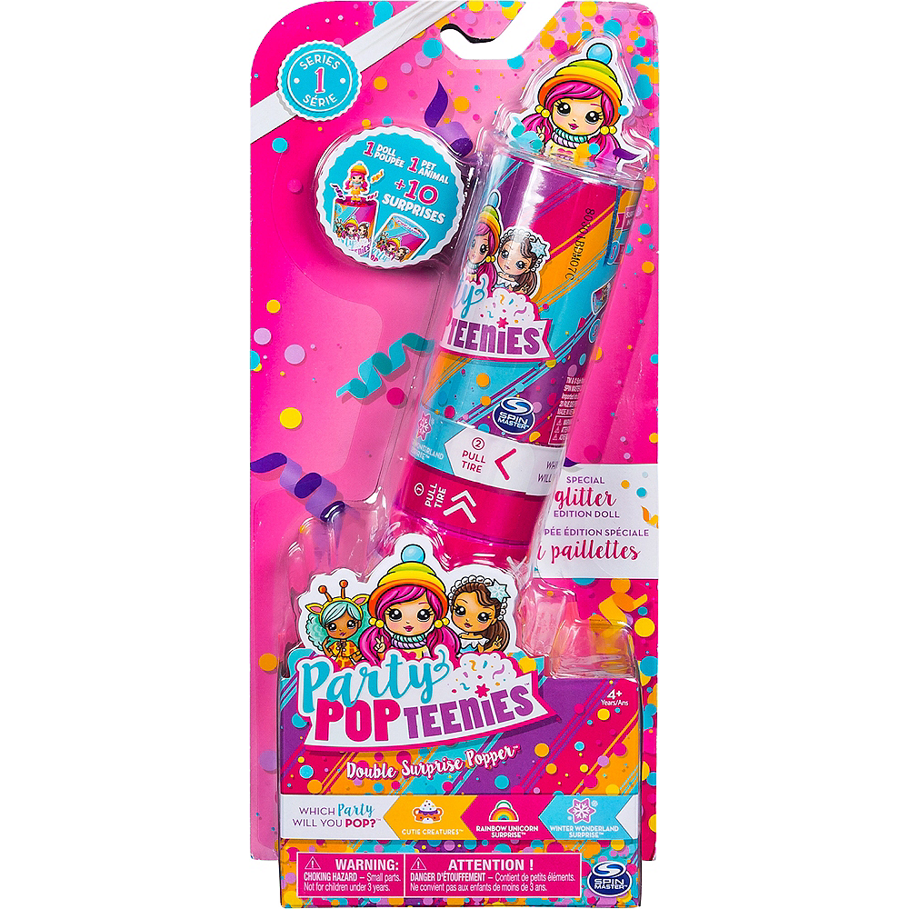 Nav Item for Party Pop Teenies Double Surprise Popper Series 1 Image #1