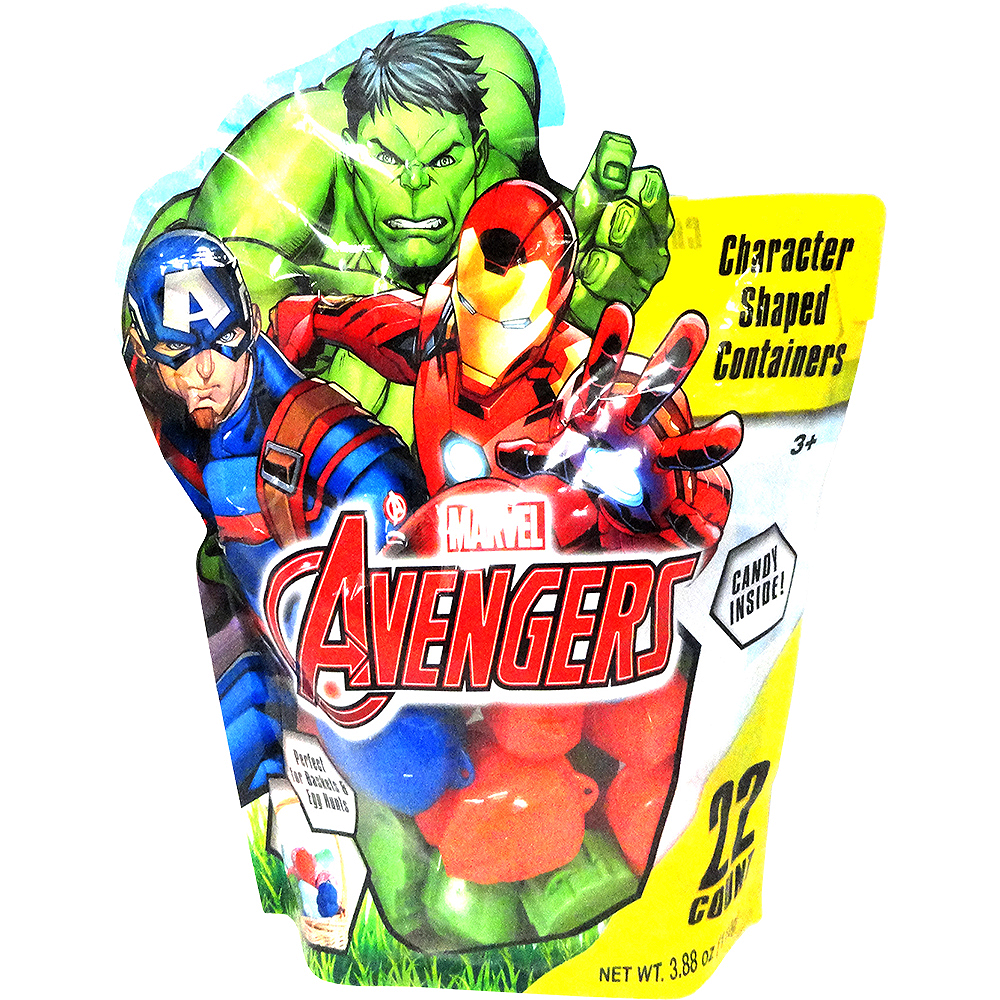 Marvel Avengers Egg Hunt Containers with Candy 22ct Image #1
