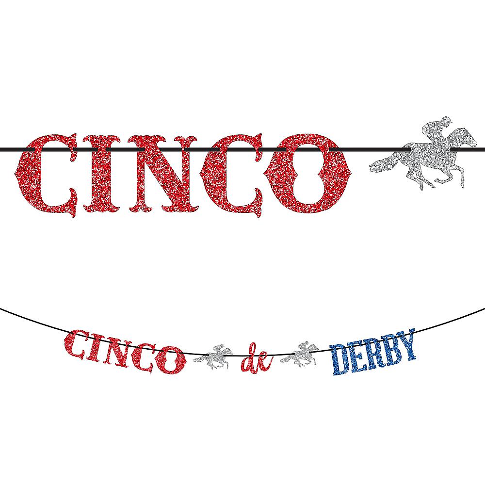 Glitter Cinco De Derby Letter Banner Image #1
