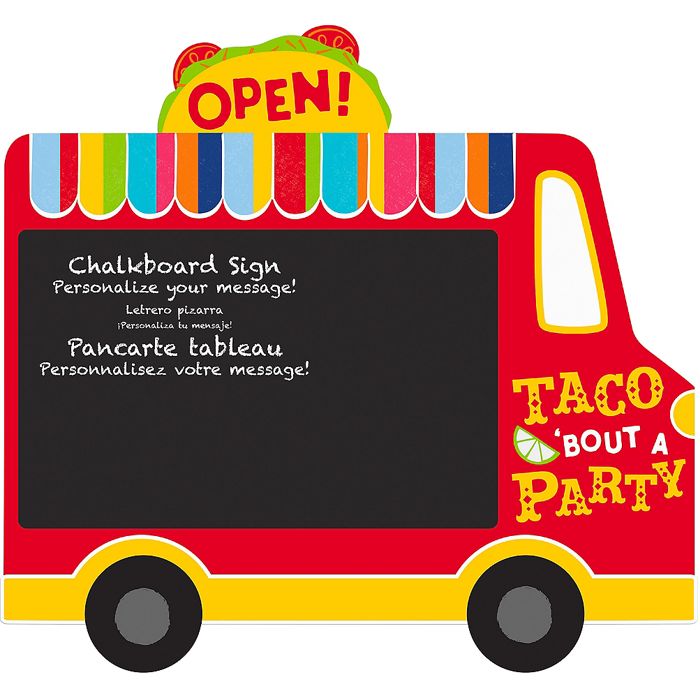 Taco Truck Chalkboard Easel Sign Image #1
