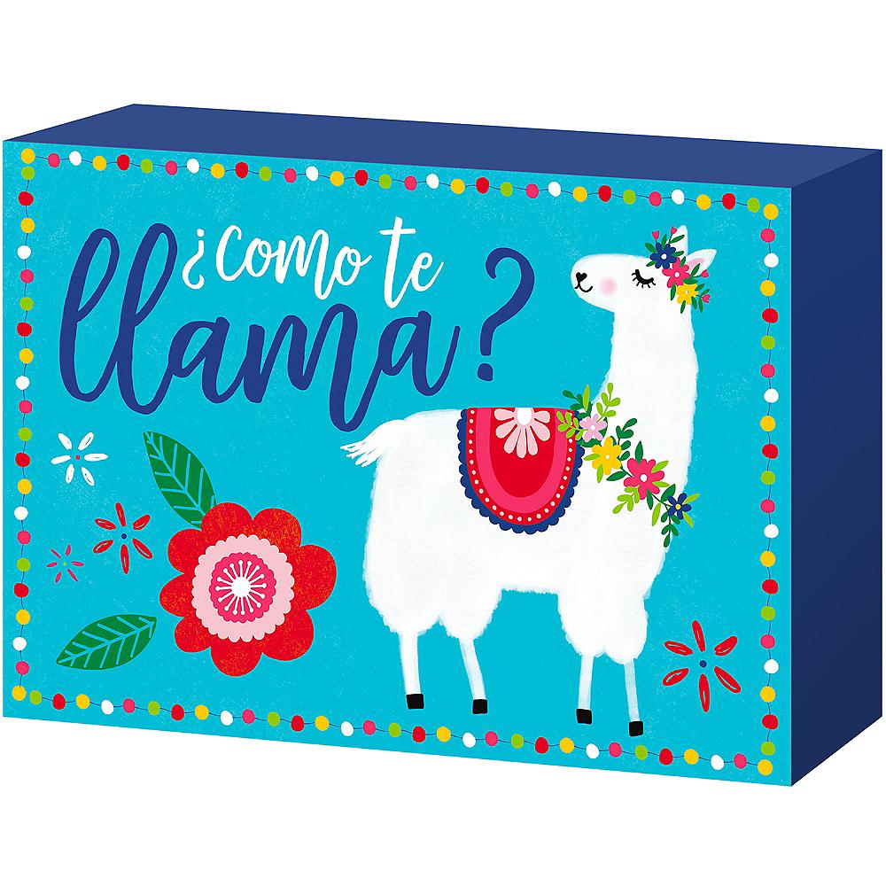 Como Te Llama Block Sign Image #1