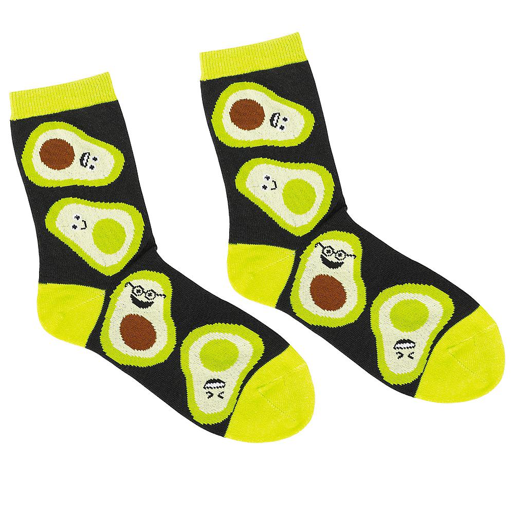 Adult Avocado Crew Socks Image #1