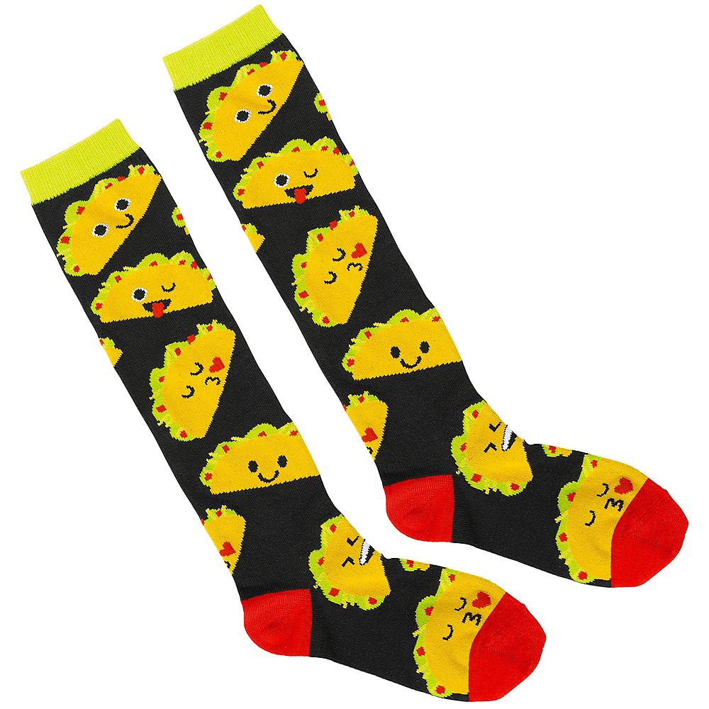 Adult Taco Knee-High Socks Image #1