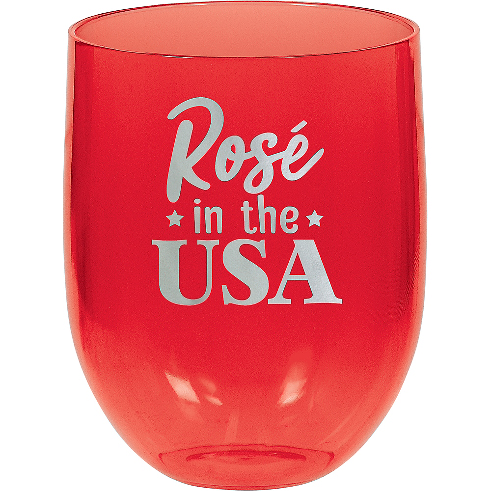 Nav Item for Rose in the USA Stemless Wine Glass Image #1