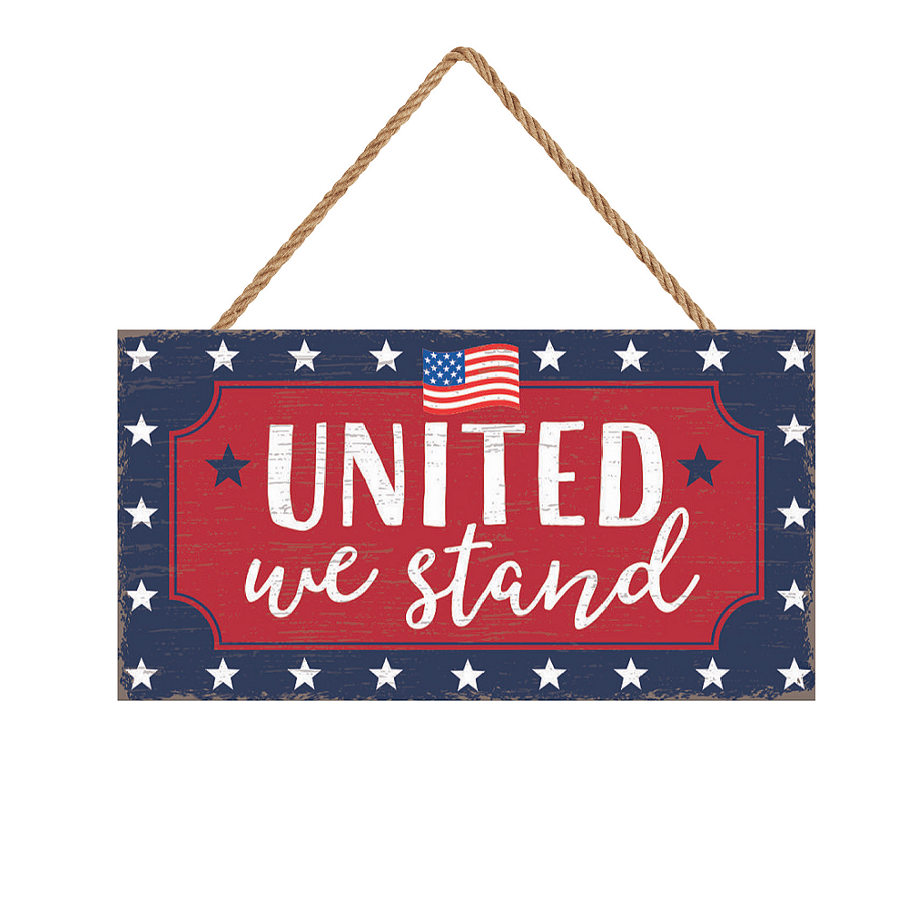 Patriotic Red, White & Blue United We Stand Sign Image #1