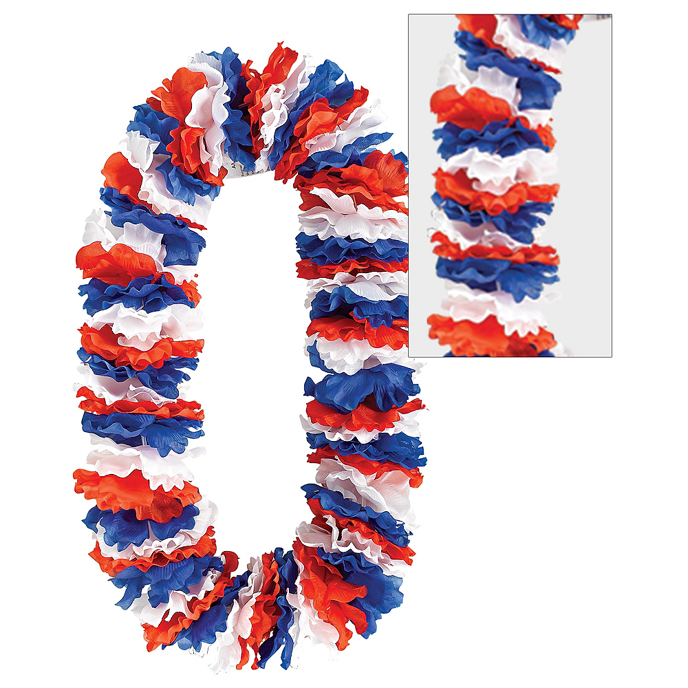 Giant Red, White & Blue Lei Image #1
